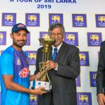 Captain of Bangladesh 'A' recieving the ODI Winners Trophy
